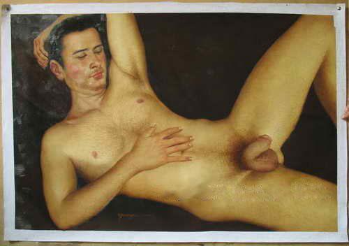 man naked a