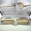 Gradient Men Acrylic Lenses White Buffalo Horn Frame Sports Eyew