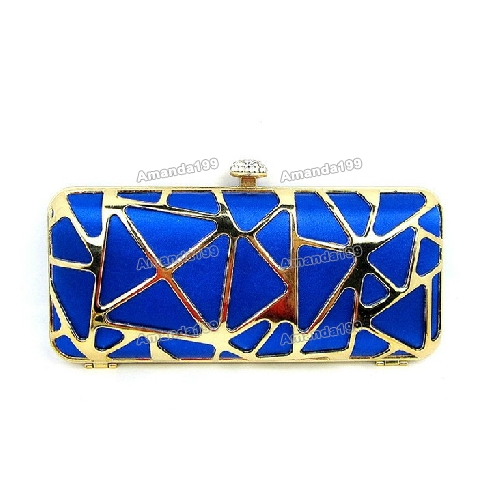 Ladies Europe Style Royal Blue Geometrical Figure Evening Bags